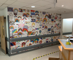 Staff can't get over new wall at Barnet Hospital