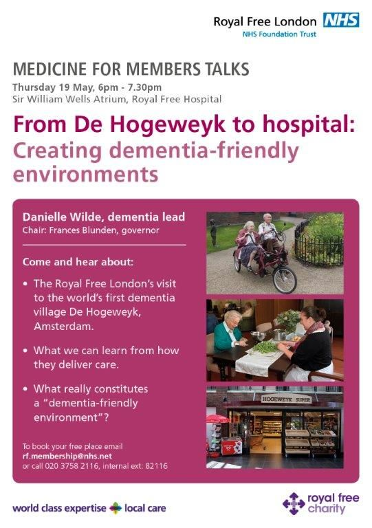 From De Hogeweyk to hospital: Creating dementia-friendly environments