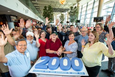 Staff and patients celebrate 2,000 liver transplant milestone