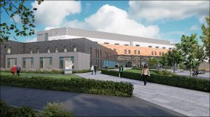 Artist's impression of Chase Farm Hospital