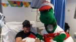 Gunnersaurus does the double with same day trip to Royal Free Hospital and Barnet Hospital