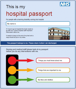 health passport template  Hospital passport | Patients with a learning disability | Disabled ...