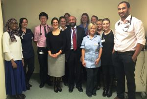 Staff on ward 10 West
