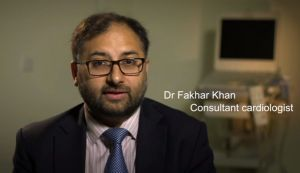 Dr Fakhar Khan, consultant cardiologist