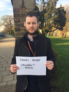 Daniel Hickey, children's nurse