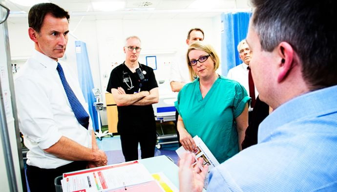 Neil Thompson, consultant paediatrician and Sarah Stanley, consultant nurse and sepsis lead, discuss our work with Jeremy Hunt