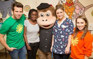 Milkshake team visit the children's ward