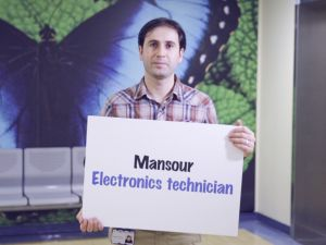 Mansour, electronic engineer