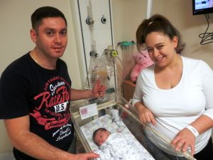 Natalie and Edis Kazim, with baby Leyla