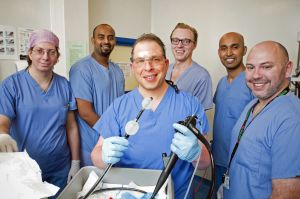Dr Edward Despott and team perform double balloon enteroscopy
