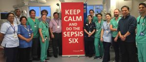 Members of the emergency department team at Barnet Hospital