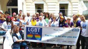 Staff at Pride in London 2016