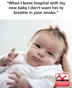 I don't want my new baby to breathe your smoke poster