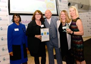 Camden diabetes IPU receive QIC award